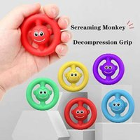 Party Favor Creative Cute Scream Monkey Stress Relief Grip Pie Silicone Toy Exercise Finger Ability For Children And Adults Easy To Carry