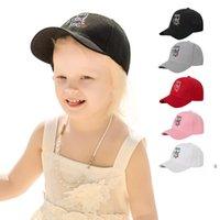 الأطفال قبعة بيسبول قابل للتعديل التطريز الصيف الشمس بلغت ذروتها قبعات في الهواء الطلق الأزياء تنفس عارضة الكرة قبعة أربعة مواسم OWC7581