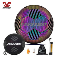 Cool Soccer Ball with Honeycomb Texture Glowing Reflective Multi Color Reflect Football Size 5 Gift for Adults Youth Kids