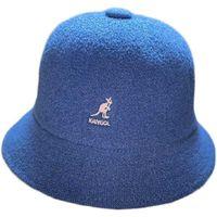 الكنغر Kango Kangol القطن والكتان الصياد قبعة الإناث الصيف تنفس الأزياء الجرس شكل قبعة صافي الأحمر طوي الشمس قبعة Q0805
