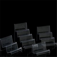 Acrylic Transparent Display Stand Mobile Phone Wallet Glasses Facial Mask Jewelry Shelf Trapezoidal Storage Bracket Hooks & Rails