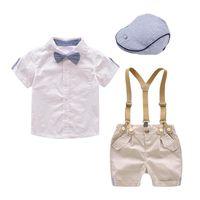 Clothing Sets Children Boys Summer Suit Gentleman Kids Boy Clothes Set Party Birthday Wedding 1-4Years Baby
