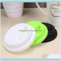 Drinkware Kitchen, Dining Bar Home & Gardensile 9Dot6Cm Non-Toxic Anti Dust Spill Proof Cup Lid Portable Coffee Milk Cups Er Seal Lids Drink