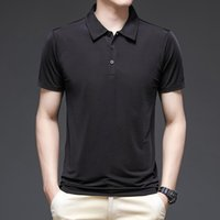 Men Tops Polo Off Multi Color And White Slim Fit Short Sleeve Quick Dry Mens Simple Streetwear Male Polos