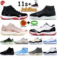 Jubilee 25 주년 기념 높은 11 농구 신발 11S 남성 운동화 Pantone 콩코드 45 차가운 회색 백금 낮은 로즈 골드 전설 파란색 스포츠 트레이너