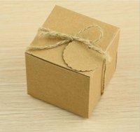 Gift Wrap European-Style Wedding Sugar Bag Retro Kraft Paper DIY Candy Box Carton Packaging Snack Favor Party Supplies