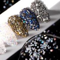 Décorations d'art à ongles 0.6-1.2mm Crystal Micro Zircon Caviar Perles de caviar 3D Mini strass Glitter Diy Gems