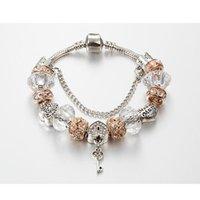 Charm Bracelets ANNAPAER 2021 Fashion Love Heart Bracelet Beads With Key Lock Fit Original For Women Jewelry B16044