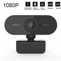 HD 1080P Webcam Mini Computer PC كاميرا Webcamera مع كاميرات ميكروفون للتدوير لبرنامج البث المباشر