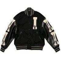 Hommes Designer Vestes Kaapital Kountry Varsity Jacket Cuir Sleeve Stitching Os Baseball Uniforme Casual Fashion Marque High Street Outwear