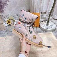 Top Quality Pillow Comfort Ankle Boots Monogram down-filled boot Fashion Printed Greek Roman Antiquity canvas Flat Shoes With Box 330