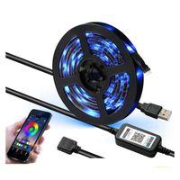 Strips 1set App Bluetooth RGB LED tira luz 1M 2M 3M 5M SMD DC 5V USB cable flexible lámpara TV retroiluminación ledstrip
