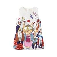Girls cartoon vest spring and autumn 2021 new children's princess skirt girls dress