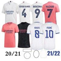 2021 ريال مدريد الرئيسية # 7 خطر كرة القدم جيرسي التايلاندية أعلى جودة modric marcelo رجل كرة القدم القميص bale asensio ثالث مجموعة موحدة