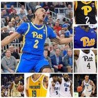 NCAA College Pitt Panthers Baloncesto Jersey 21 Terrell Brown 22 Anthony Starzynski 24 Samson George 31 Onyebuchi Ezeakudo Custom Steinsted