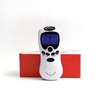 듀얼 출력 건강 관리 전기 EMS 근육 자극기 근육 자극기 바디 마사지 디지털 테라피 기계 펄스 마사지 X0709