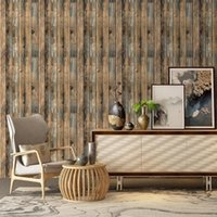 Retro Faux Wood Wallpaper Peel And Stick 3d Self Adhesive St...
