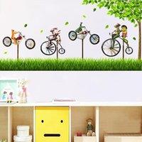Wall Stickers Creative Bicycle DIY Living Room Bedroom Decor Kids Nursery Backdrop Decoration Cartoon Big Tree Mural