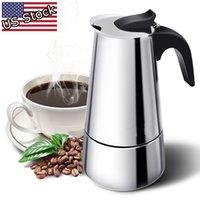 9 컵 에스프레소 퍼콜 레이터 커피 스토브 메이커 15oz Mocha Latte Pot Stove 450ml 용량