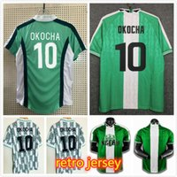 Nigelia Retro Soccer Jersey Home Away 1994 1996 1996 Mailleot De Foot Okechukwu Ighalo Okocha Ahmed Musa Ndidi Mikel Jerseys Kit Football Shirts Home