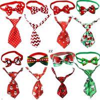 Christmas Animal Chien Cravates Nouvel An Cravates à la main Pet de chien de compagnie à la main Set Festival Heckties Accessoires de chien Fournitures HWWE9289