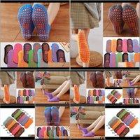 Favor Event Festive Party Supplies Home & Garden Drop Delivery 2021 Non-Slip Professional Indoor Yoga Sport Socks For Women Men Cotton Short