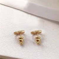 Avec Box Mode Stud Brand, timbres Boucles d'oreilles des concepteurs de perles pour femme Femmes Party Lovers Gift Engagement Cadeaux Bijoux de Luxe Mariée HB20