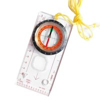 Outdoor Gadgets 1 Pcs Camping Directional Cross-country Race Hiking Special Compass Baseplate Ruler Map Scale Night Bussola