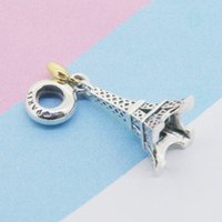Париж Эйфелева башня очарование кулон кулон золотое сердце бисера подходит для ожерелья с браслетами Pandora 858 Q2