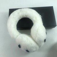 Kış Earmuffs Kadın Tavşan Kadife Earmuffs Klasik Marka Kulak Muffs Moda Sıcak Sıcak Peluş Earmuffs