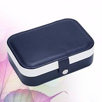 Jewelry Pouches, Bags 1pc Double-layer Bag Multi-function Earing Necklace Ring Box Sundries Organizing Holder For Girls