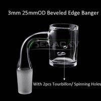 Beracky dois estilos beveled borda tourbillon / liquidificador de giro banger 10mm 14mm 18mm 45 * 90 homens femininos masculinos para bongos de vidro