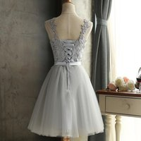 Bridesmaid Dress Short Gray Graduation Was Thin Evening Wedding Party Elegant Burgundy Dresses