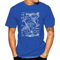 Футболка футболки Spitfire Концепция полета самолет Чертежи истребители Веселые футболки мужские хлопковые с коротким рукавом