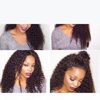 İpek Üst Kıvırcık Peruk Perulu Bakire Saç Tutkalsız İpek Üst Dantel Ön Peruk İnsan Saç Ipek Taban Siyah Kadınlar Için Tam Dantel Peruk