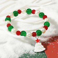 Beaded, Strands Christmas Couple Bracelets Handmade Beaded For Women Suit 2021 Trends Bangles Hand Fashion Jewelry Accessories