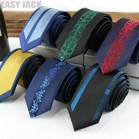 Neck Ties Skinny For Men 6cm Positioning Jacquard Stripe Polyester Gravata Kravat Wedding Business Dating Banque Necktie Tie