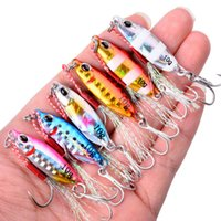 6PCS Metal Cast Jig Spoon 10G 15G 20G 25G 30G 40G Casting Jigging Lead Fish Sea Bass Fishing Lure Artificial Bait Tackle 210415