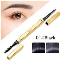 Eyebrow Pencil Waterproof Fork Tip Long Lasting Fine Sketch Liquid Tattoo Eye brow Pen Double Head