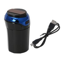 Car Organizer 652F 3 In 1 Rechargeable LED Ashtray Trash Can Removable Cigarette Lighter Light For Cup Holder