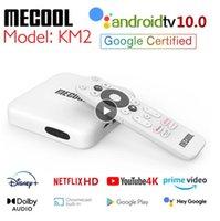 MeCool KM2 4K Android 10 TV Box Amlogic S905X2 2GB 8GB USB3.0 2T2R المزدوج WIFI HDR Prime Video