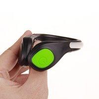 Correndo Esportes de Bicicleta LED Shoe Clip Oldando Lighting Pulso Sinal de Segurança Sapatos Plásticos 7-Color Flash Noite Luz Ao Ar Livre FedEx