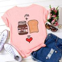 Women's T-Shirt Cute Female Korean Style T Shirt Fashion Casual Women White Clothing Streetwear Cartoon Short Sleeve Modal Pink Top