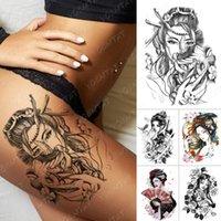 Impermeabile Tatuaggio Temporaneo Adesivo Giapponese Prajna Risentimento Geisha Flash Tatuaggi Beauty Body Art Braccio Falso Tatoo Donne Uomini