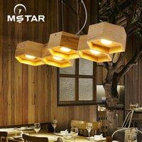 Sarkıt lambaları Nordic Sanat Kişilik Petek Ahşap Işık Restoran Bar LuminAire Suspendu
