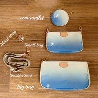 Üst!!! Kadın Crossbody 3 Bir Çanta Çok Pochette Accessoires Autres Toiles Tekstil Astar Dev Kaplı Tuval Ve Dana Deri Trim 57633