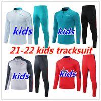 21 22 Kids Tracksuit Bayern Monaco di Baviera Jacket da calcio Kit 2021 Paris SuiteSement Alexis Lukaku Lautaro Tuta da calcio da calcio