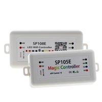 DC5-24V SP105E SP108E Magic RGB 컨트롤러 Bluetooth 2048 픽셀 WS2811 2812 2801 6803 IC LED 스트립 지원 iOS / Android 앱