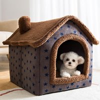 Cat Beds & Furniture Pet Dog Plush Soft Bed Indoor Tent House Small Medium Animals Ped Huts Play Sleeping Cushion Comfortable Nest Pets Supp