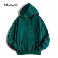 Moinwater Marka Yeni Kadın Polar Hoodies Lady Streetwear Kazak Kadın Beyaz Siyah Kış Sıcak Hoodie Giyim MH2001